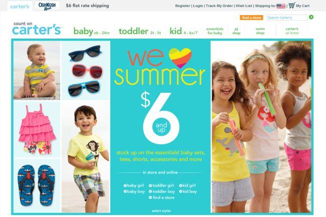 Интернет-магазин Carters.com