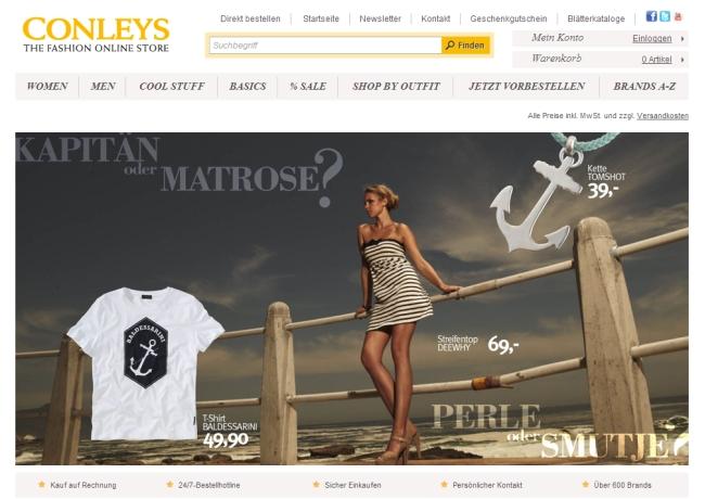 Интернет-магазин Conleys.de