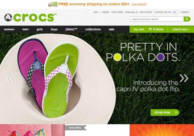 Интернет-магазин Crocs.com