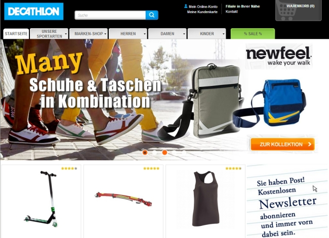 Интернет-магазин Decathlon.de