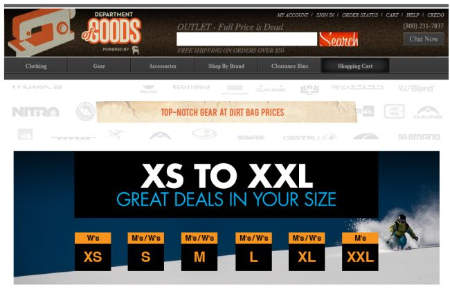 Интернет-магазин Departmentofgoods.com