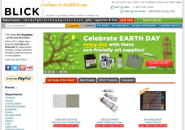 Интернет-магазин Dickblick.com