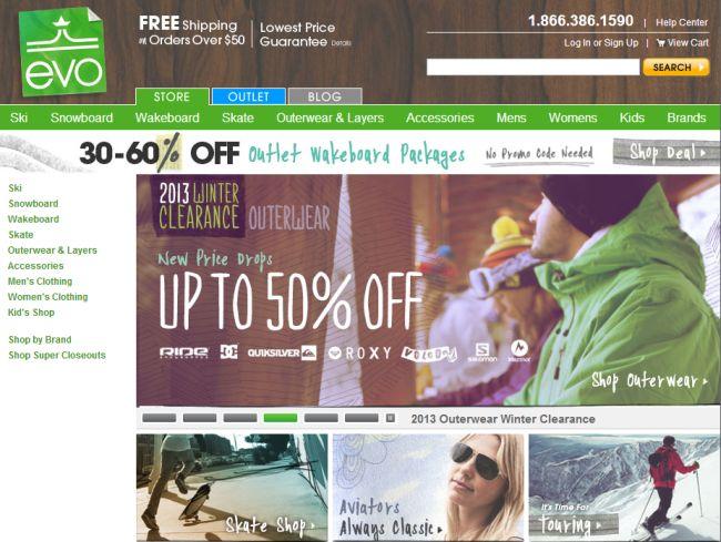 Интернет-магазин Evo.com