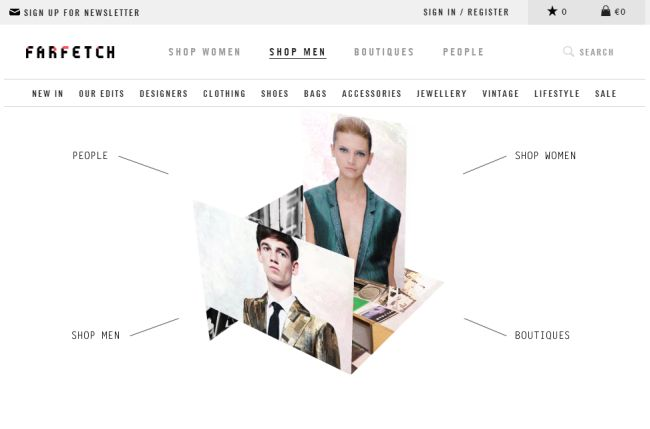 Интернет-магазин Farfetch.com