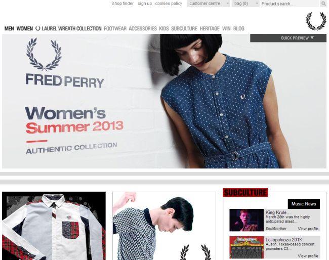 Интернет-магазин Fredperry.com