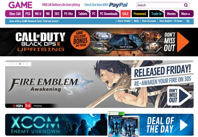 Интернет-магазин Game.co.uk