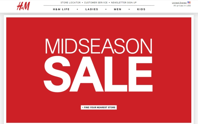 Интернет-магазин HM.com