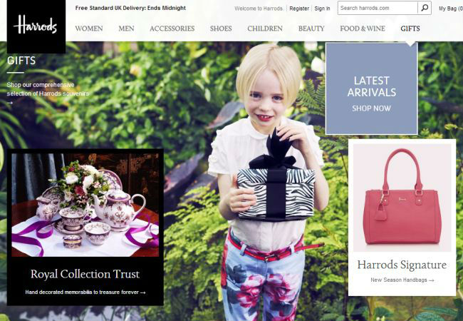 Интернет-магазин Harrods.com
