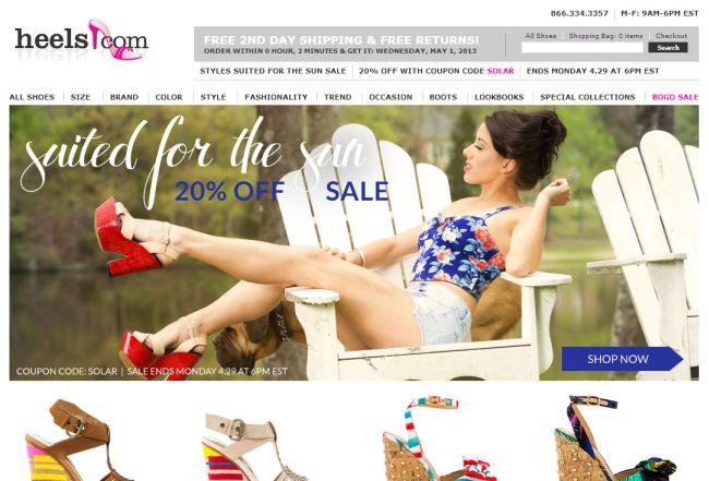 Интернет-магазин Heels.com