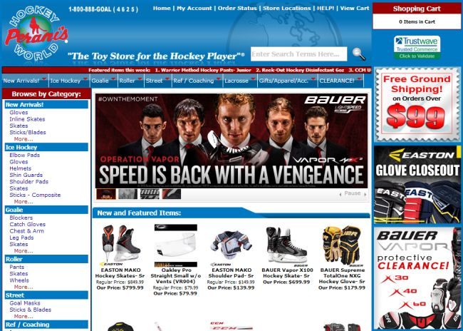 Интернет-магазин Hockeyworld.com