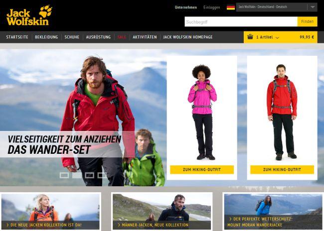 Интернет-магазин Jack-wolfskin.de