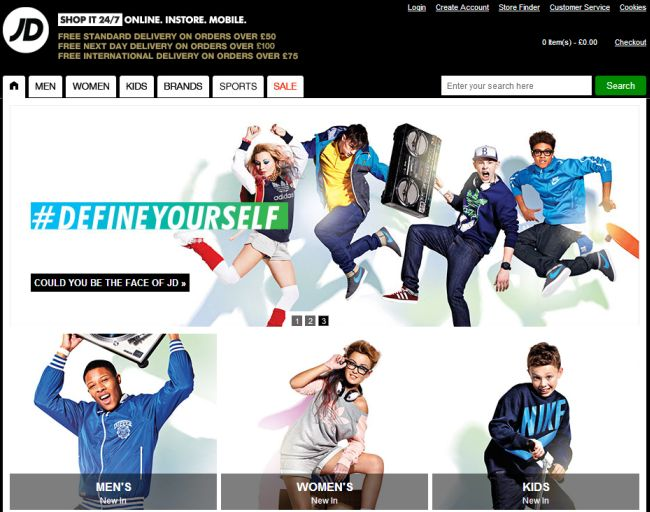 Интернет-магазин Jdsports.co.uk