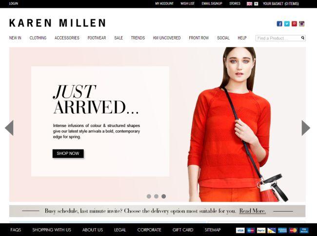 Интернет-магазин Karenmillen.com