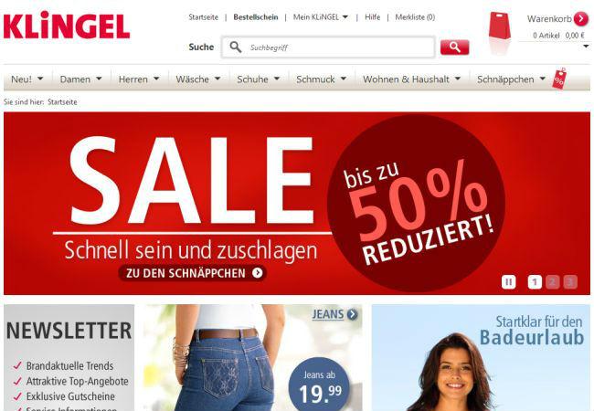 Интернет-магазин Klingel.de