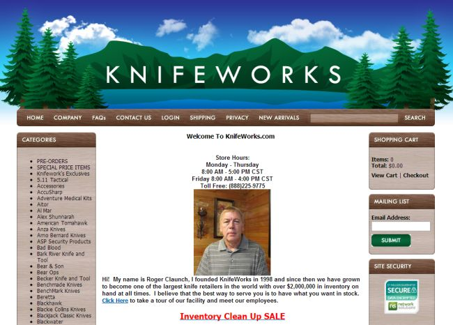 Интернет-магазин Knifeworks.com