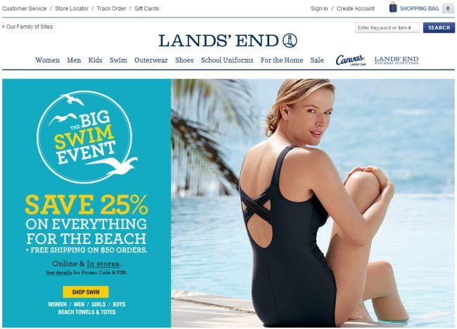 Интернет-магазин Landsend.com