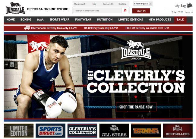 Интернет-магазин Lonsdale.com