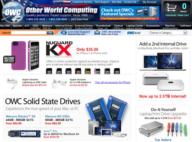 Интернет-магазин Macsales.com