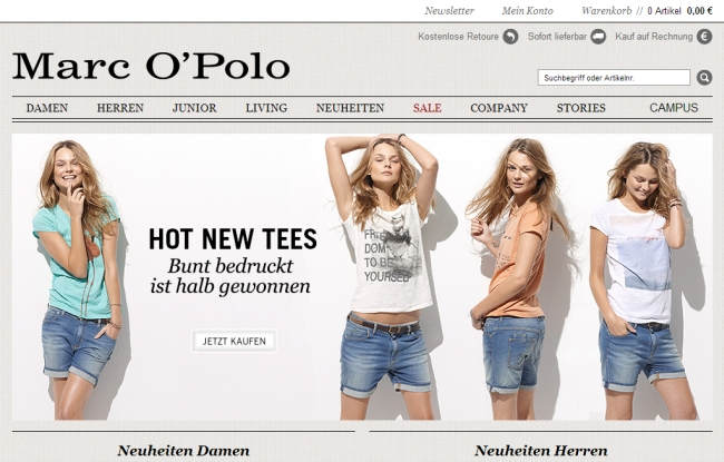Интернет-магазин Marc-o-polo.de