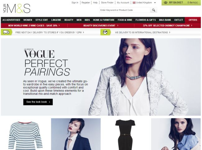 Интернет-магазин Marksandspencer.com