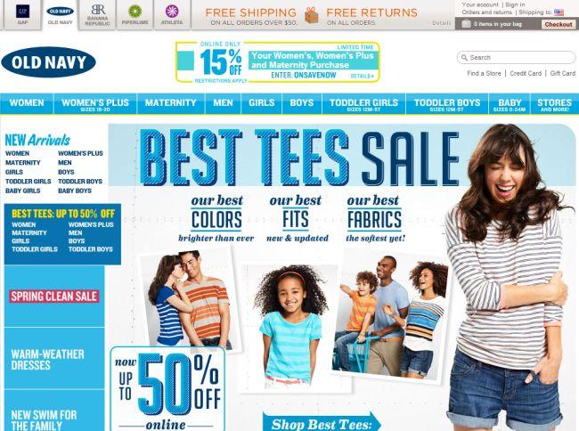 Интернет-магазин Oldnavy.gap.com