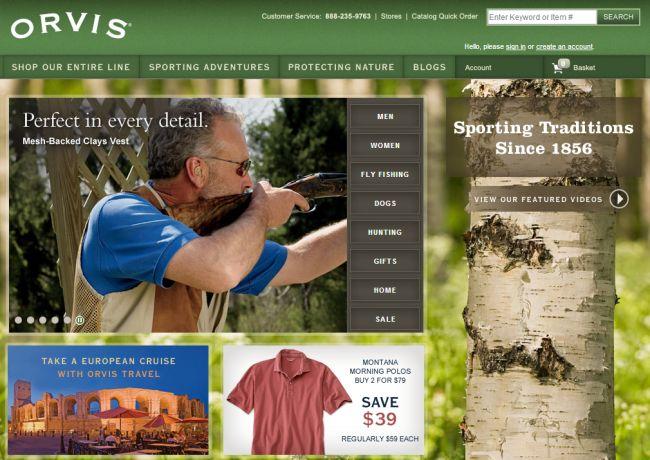 Интернет-магазин Orvis.com