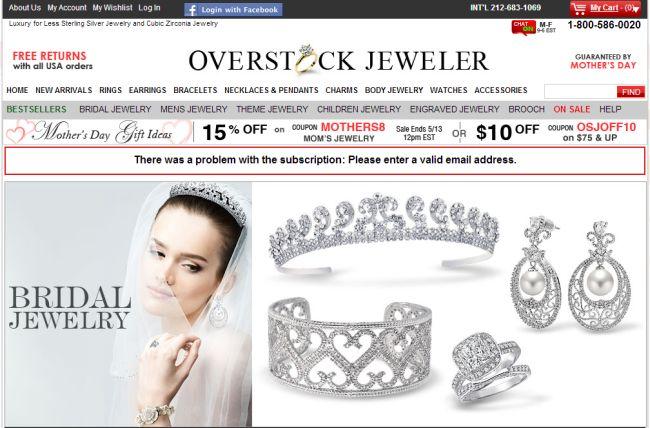 Интернет-магазин Overstockjeweler.com