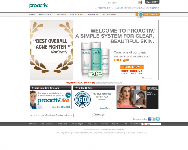 Интернет-магазин Proactiv.com