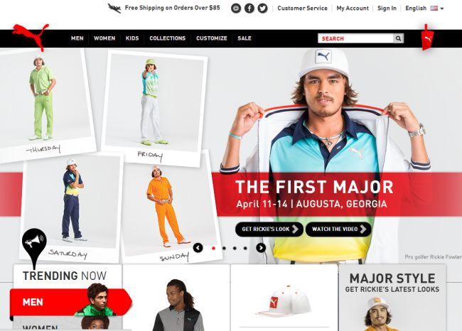 Интернет-магазин Puma.com