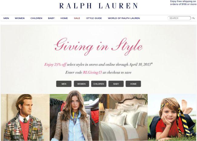 Интернет-магазин Ralphlauren.com