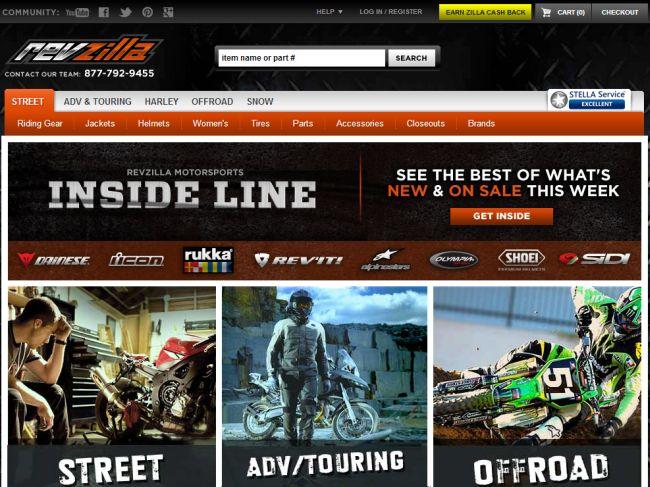Интернет-магазин Revzilla.com