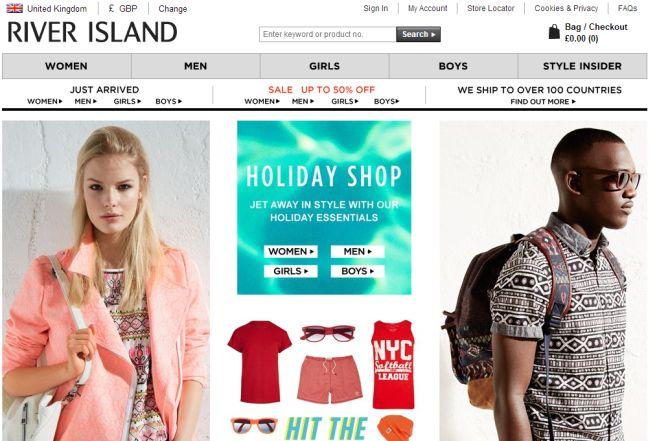 Интернет-магазин RiverIsland.com