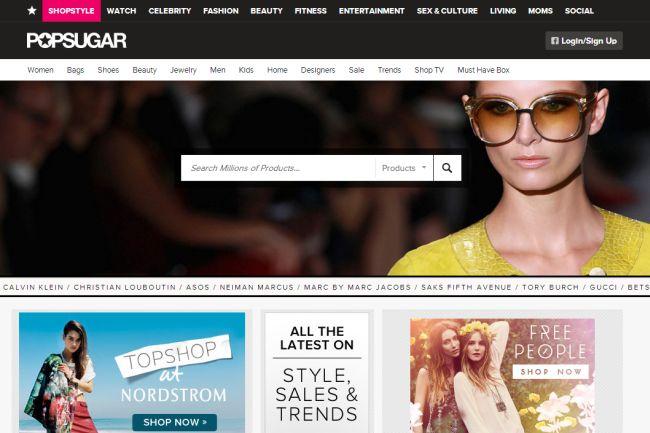 Интернет-магазин Shopstyle.com