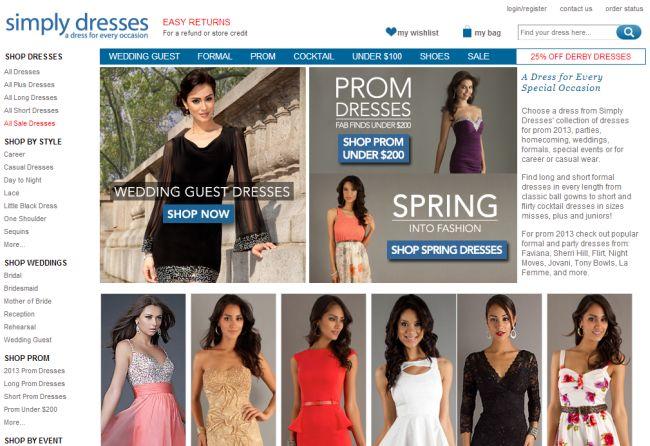 Интернет-магазин Simplydresses.com