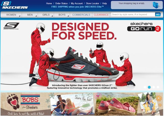 Интернет-магазин Skechers.com