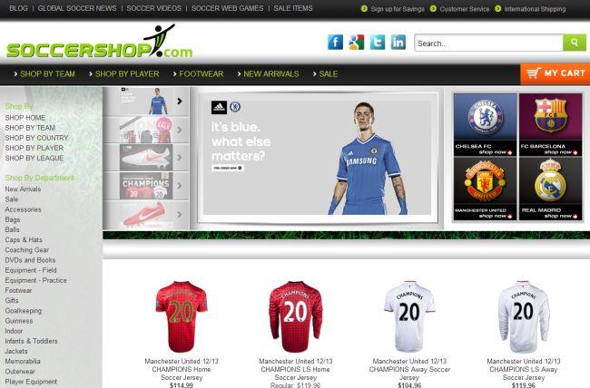 Интернет-магазин Soccershop.com