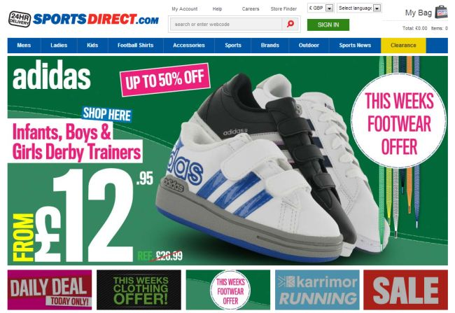Интернет-магазин SportsDirect.com