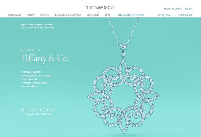 Интернет-магазин Tiffany.com