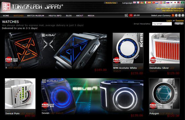 Интернет-магазин Tokyoflash.com