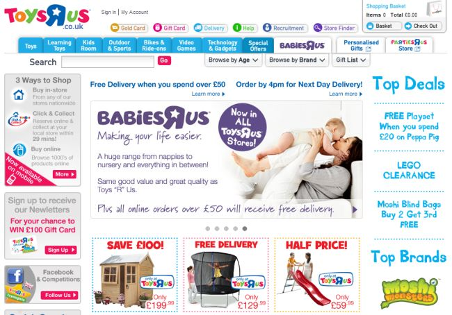 Интернет-магазин Toysrus.co.uk