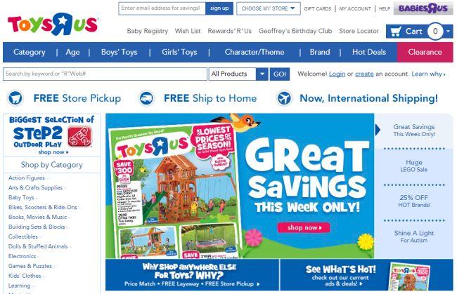 Интернет-магазин Toysrus.com