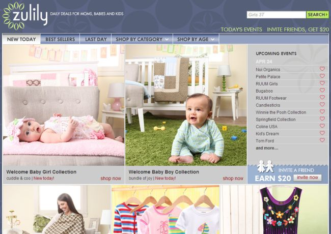 Интернет-магазин Zulily.com