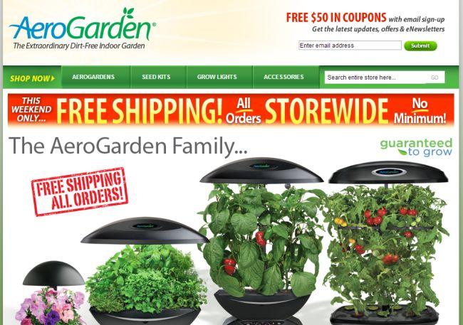 Интернет-магазин Aerogarden.com