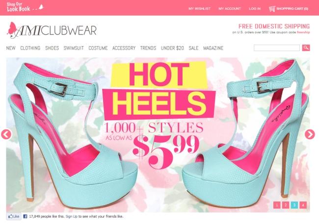 Интернет-магазин Amiclubwear.com