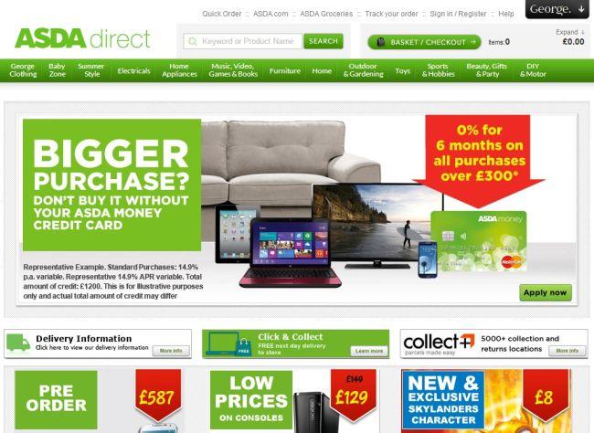 Интернет-магазин Asda.com