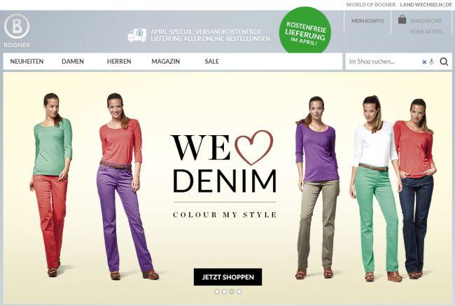 Интернет-магазин Bogner.com