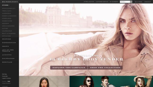 Интернет-магазин Uk.burberry.com