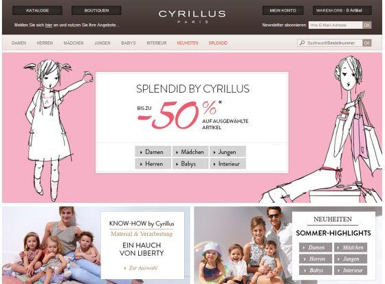 Интернет-магазин Cyrillus.de