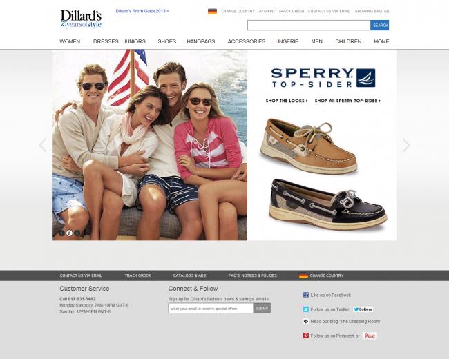 Интернет-магазин Dillards.com