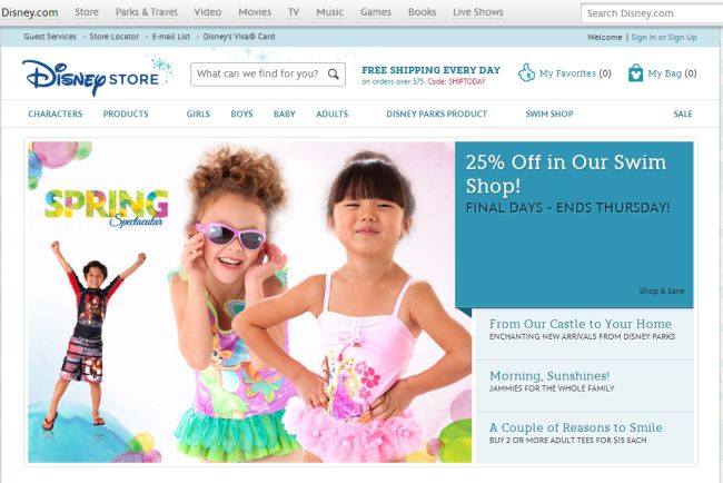 Интернет-магазин Disneystore.com